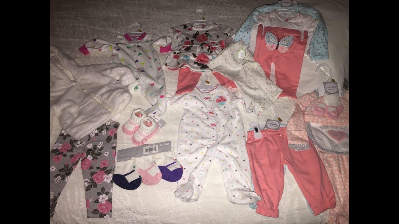 Baby Girl Clothing Haul Carter S Youtube