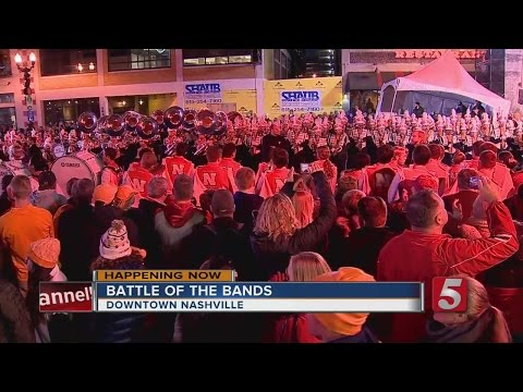 Football Fans Take Over Downtown Before The Music City Bowl