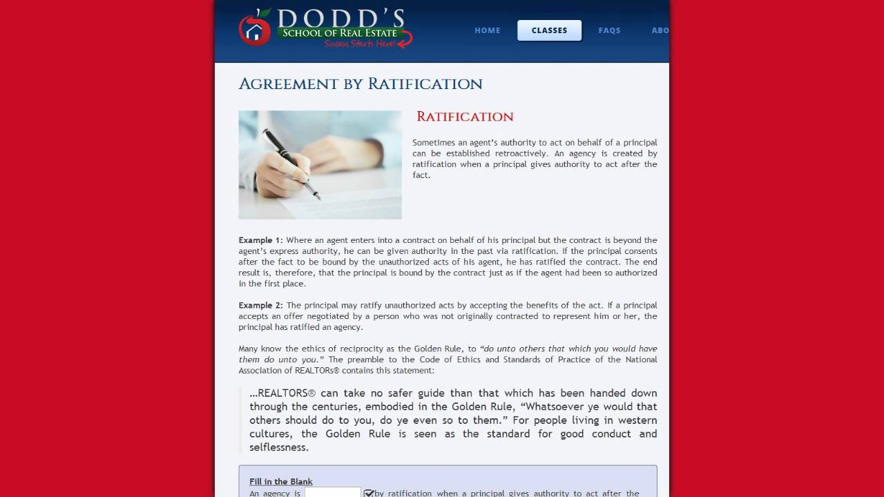 Agreement By Ratification Youtube