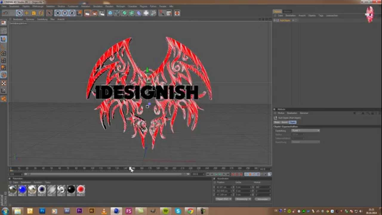 how to make a logo 3d in cinema 4d