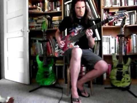 "Playing ARC's ""Autoscopy"" On Bulb's Swirled Ibanez RG2228 8 String"