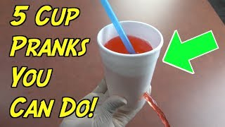 5 Super Messy Cup Pranks You Can Do On April Fools' Day -HOW TO PRANK (Evil Booby Traps)