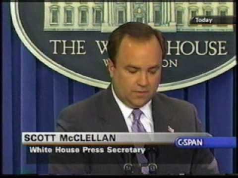 Archive: Scott McClellan Daily Press Briefing - CIA leak questions pt 4