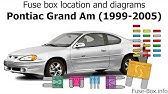 Fuse Box Location And Diagrams Pontiac Grand Prix 1997 2003 Youtube