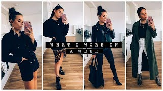 WHAT I WORE IN A WEEK | AD | Hello October