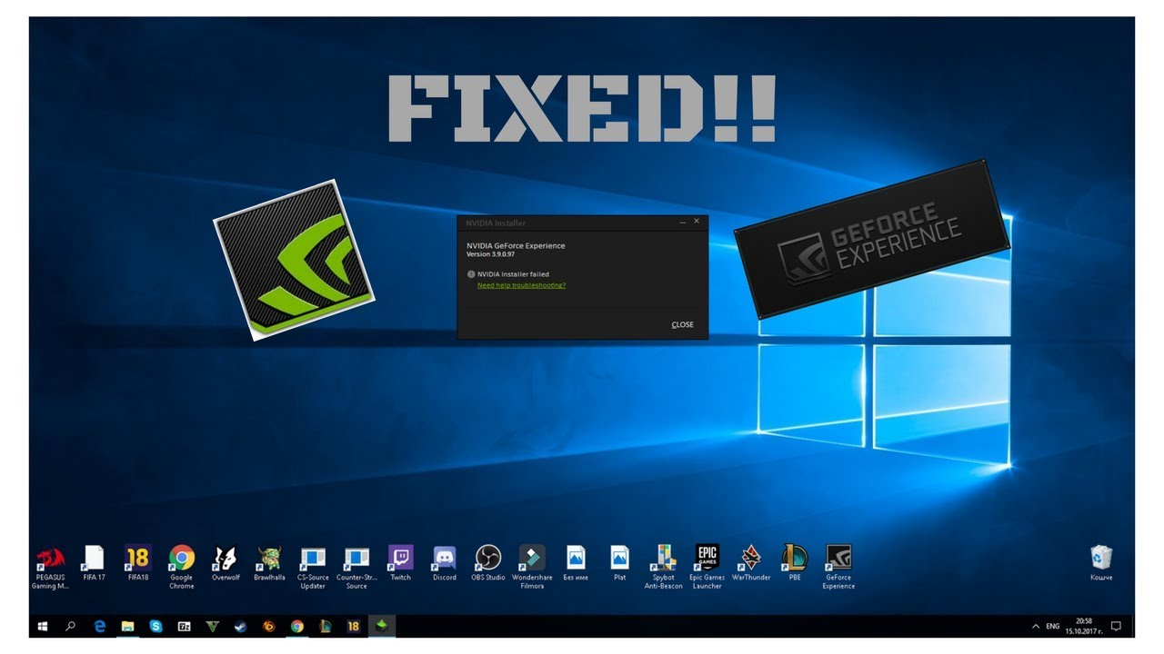 nvidia geforce experience windows 7 64 bits