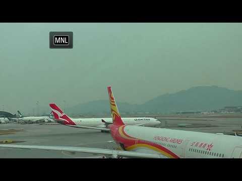 🔴Live:  Hong Kong Airport some crosswind landings 香港機場