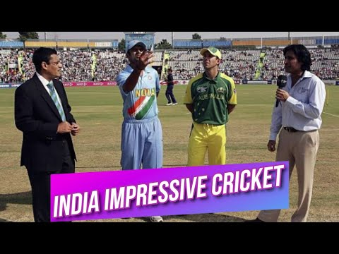 India's Impressive Cricket Against Australia At Mohali Champions Trophy 2006 Highlights