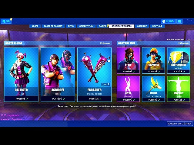 BOUTIQUE FORTNITE du 18 Juin 2019 ! ITEM SHOP June 18 2019 !