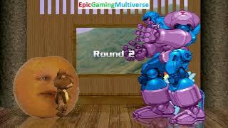 Tedi The Robotic Teddy Bear And Annoying Orange VS Sentinel & Rainbow Dash In A MUGEN Match / Battle