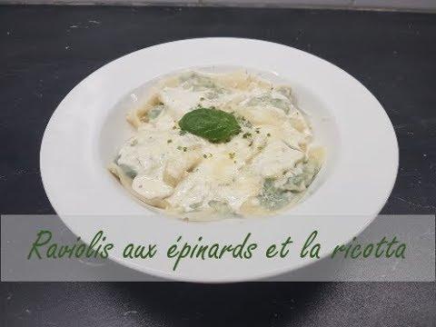 Raviolis aux épinards et la ricotta