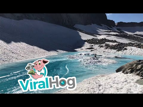 Pond Skimming the Fountain of Youth in Tahoe || ViralHog