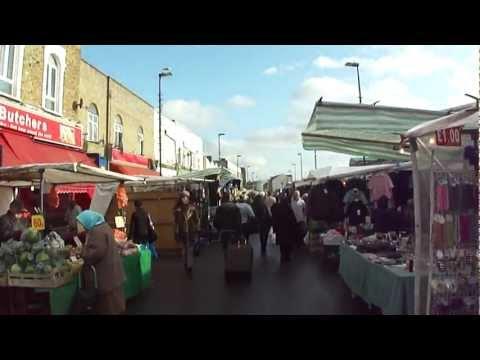 Walking Through Ridley Road  Street Market, Dalston, London, UK; 18th November 2011