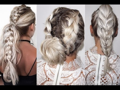 EASY Braid Hair Tutorials long hair// Leichte Flechtfrisuren für lange Haare