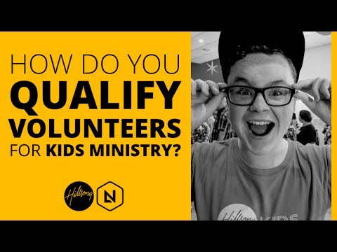 How Do You Qualify Volunteers For Kids Ministry | Hillsong Leadership Network - YouTube