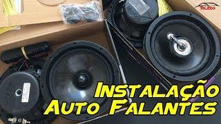 Instalação Auto Falantes kit 2 via + Triaxial Bravox - Citroen C4