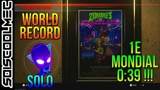 WORLD RECORD! SPEED RUN! BOSS FIGHT! ALIEN SPACELAND! 0:39 SOLO! 1E MONDIAL! COD IW!