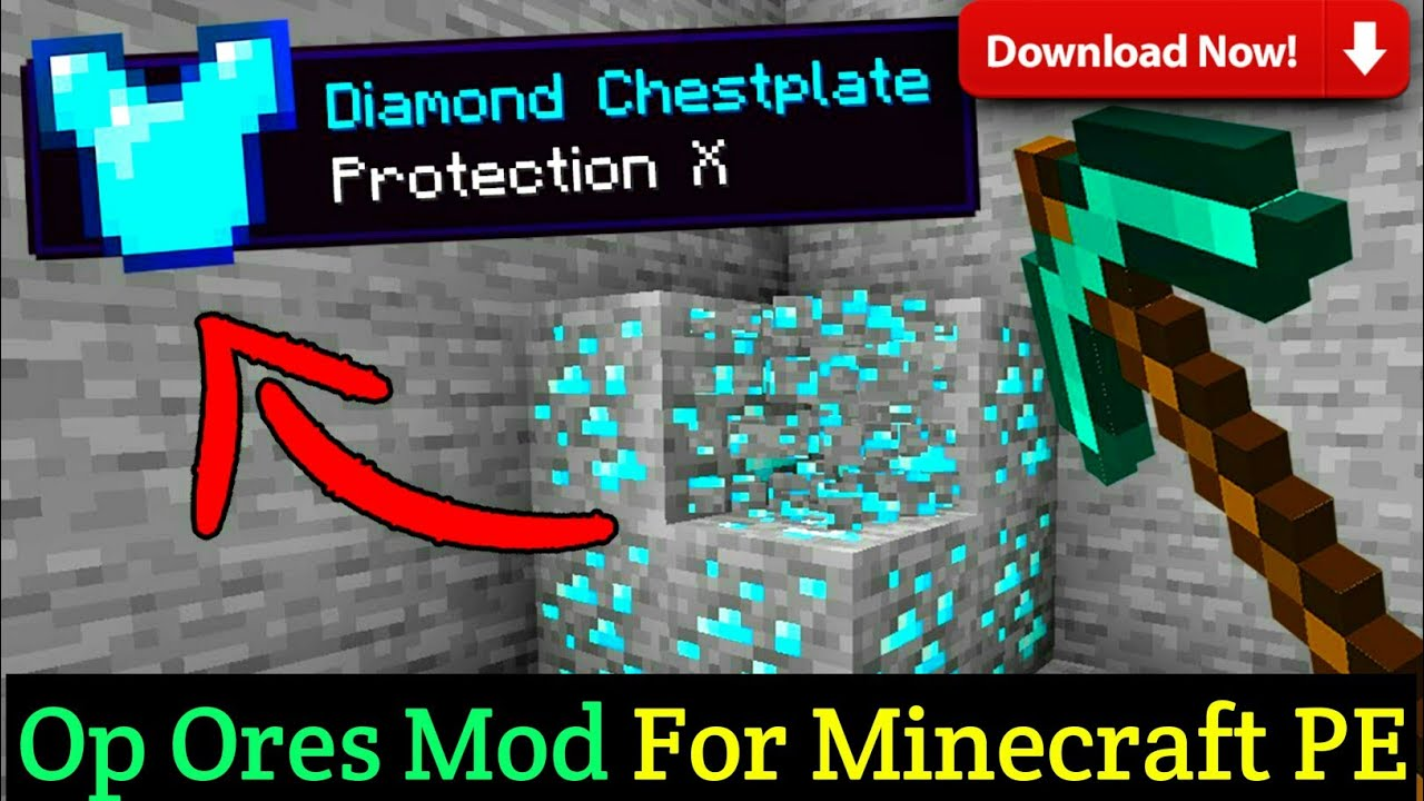 Download how to download op ores mod in minecraft | how to download ores drop op items mod for minecraft pe