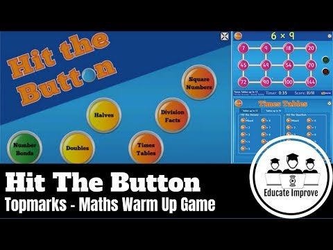 Hit The Button - TOPMARKS - Fun Maths Game Activity Challenge Times Tables Number Bonds