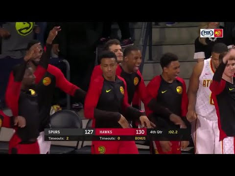 4th Quarter, One Box Video: Atlanta Hawks vs. San Antonio Spurs