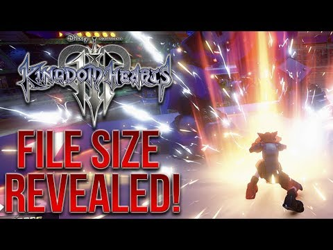 Kingdom Hearts 3's File/Game Size Has Been Revealed!
