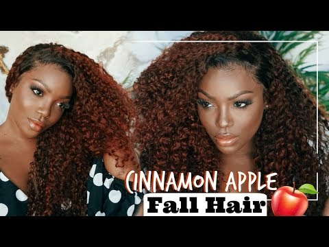 Cinnamon Apple Hair Color for Brown Girls + Lazy day glue application
