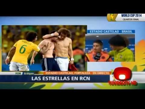 Colombia vs. Brazil shirt swap and interview