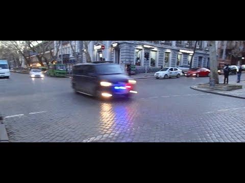 Кортеж Порошенко в Одессе/ Motorcade Of Ukraine President