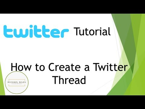 Creating Twitter Threads - Making Friends with Twitter