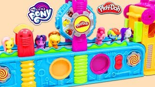 MLP My Little Pony Friends Visit the Magic Play Doh Mega Fun Factory Playset for Surprise Toys!