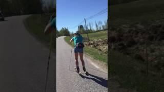 Charlotte Kalla Speed Training