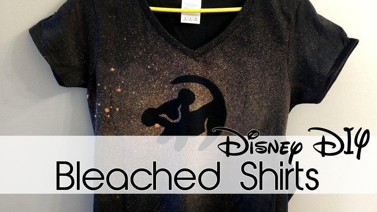 Bleached Shirts 30 Days Of Disney 3 Creation In Between