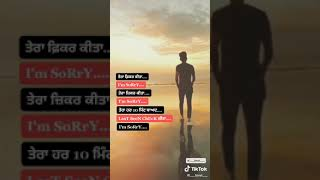 I am Sorry Punjabi Sad Status Video⬇️Download