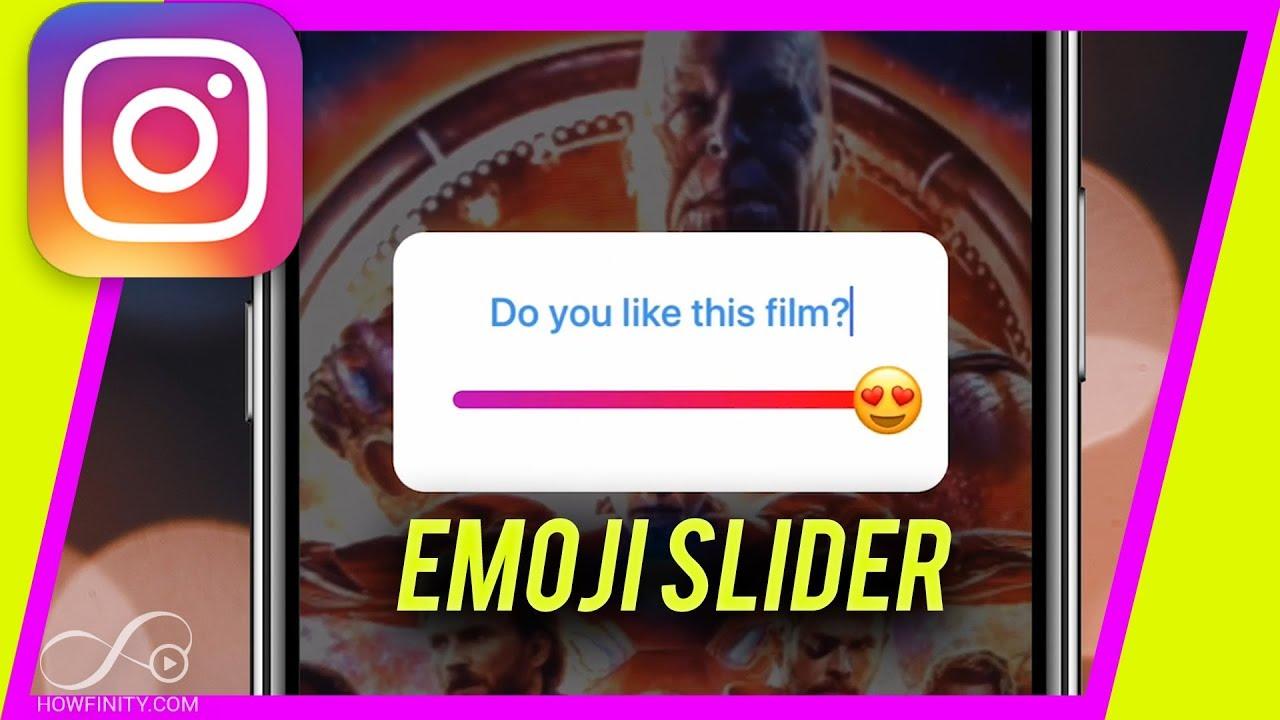 How to use Instagram Emoji Slider