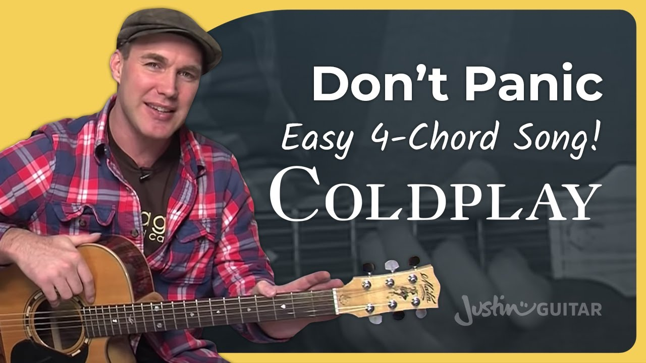 How To Play Dont Panic By Coldplay Acoustic Guitar Lesson Sb 111