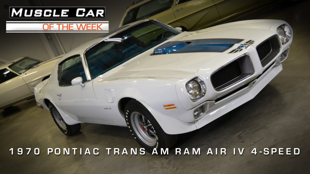 Muscle Car Of The Week Video #3: 1970 1/2 Pontiac Trans Am Ram Air IV    YouTube