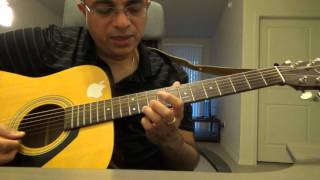 Mouna Raagam Theme Song (M: Illayaraaja G:Sadhanand) guitar instrumental lesson by Suresh