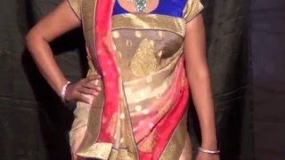 How to wear coorgi adapted style of saree drape - Saree drape for Jewellery visibility