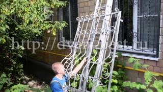 Установка решеток на окна - Стальной Декор(, 2014-08-17T11:22:14.000Z)