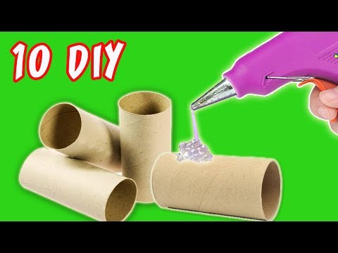 10 DIY CHRISTMAS RECYCLED DECORATION - CRAFTS WITH ROLLS TOILET PAPER | aPasos Crafts DIY