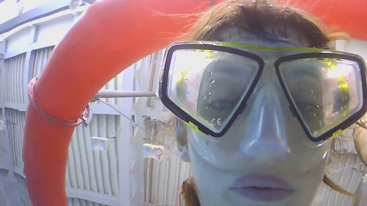 Breath Holding Challenge girl woman apnea 4 minutes - HD