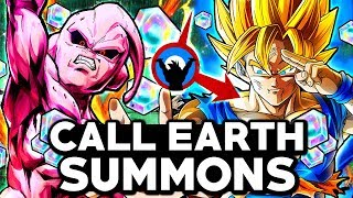 NEW 8K LEGENDARY SPIRIT BOMB GOKU SUMMONS ALL STEPS! Dragon Ball Legends Call Earth Kid Buu Summons