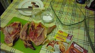 Вкусная домашняя курица, запечённая в духовке без рецептов