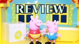 Peppa Pig Peek 'n Surprise Playhouse Peppa George Toy Review Alltoycollector