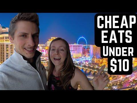 BEST CHEAP EATS on the LAS VEGAS STRIP | $10 or Less