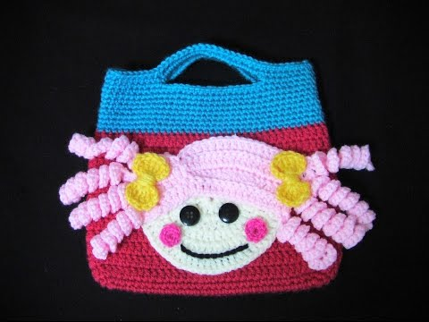 Πλεκτη Τσαντα Lalaloopsy (μερος 1ο)/ Crochet Lalaloopsy Bag Tutorial (part 1)