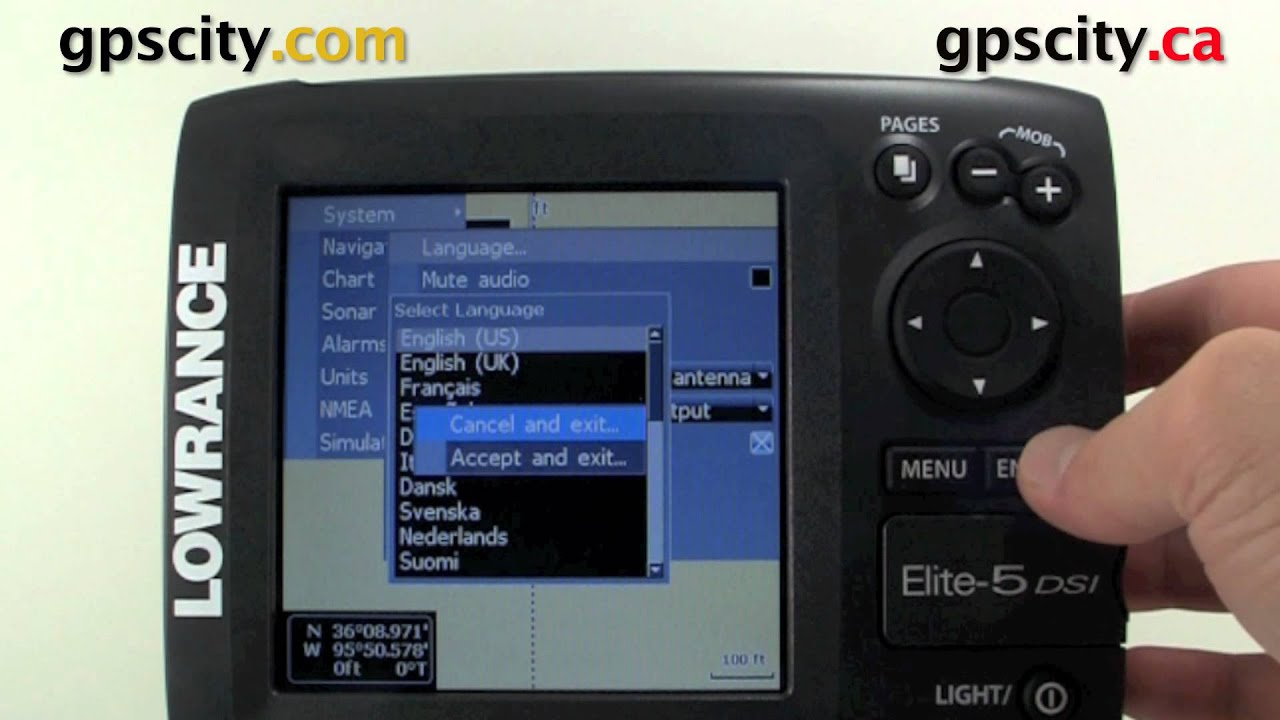 Lowrance Elite 5 Video Manual Changing To And From The Advance Mode Menu Youtube