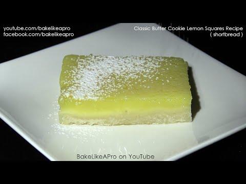 Classic Butter Cookie Lemon Squares Recipe