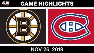 NHL Highlights   Bruins vs. Canadiens – Nov. 26, 2019
