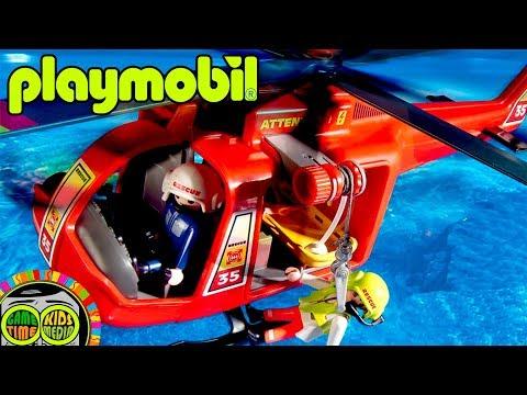 Playmobil helicoptero. Película online para niños. Film kids.